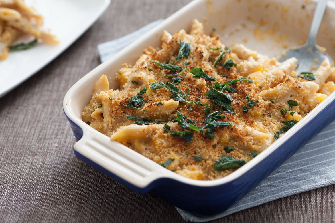 Butternut Squash Mac & Cheese with Crispy Sage