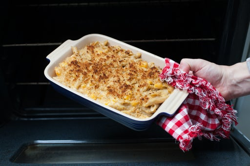 Bake the mac & cheese: