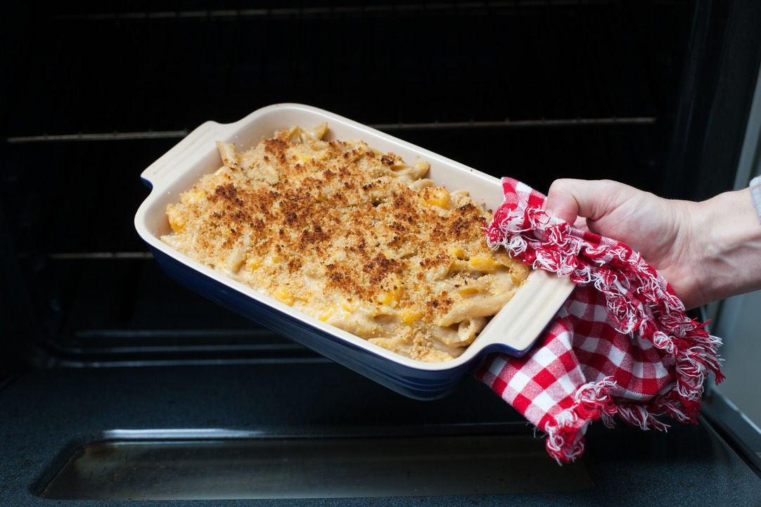 Bake the mac & cheese:
