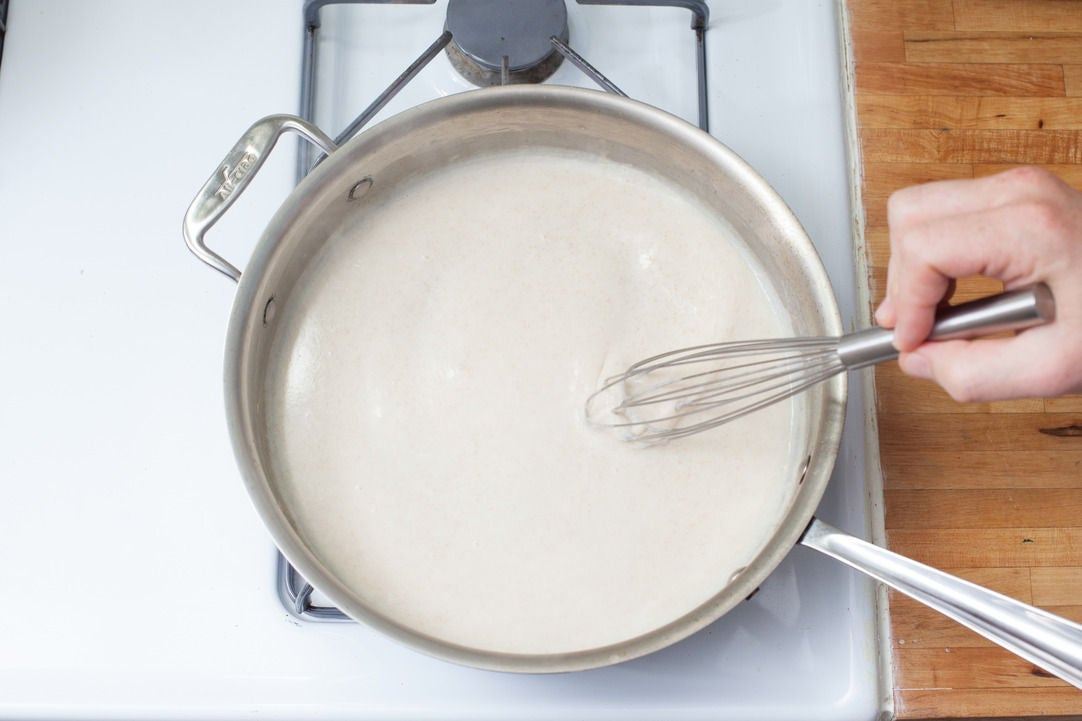 Make the béchamel sauce: