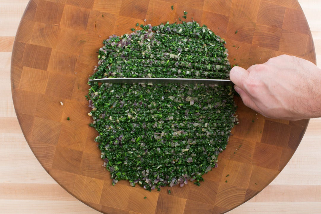 Chop the vegetables: