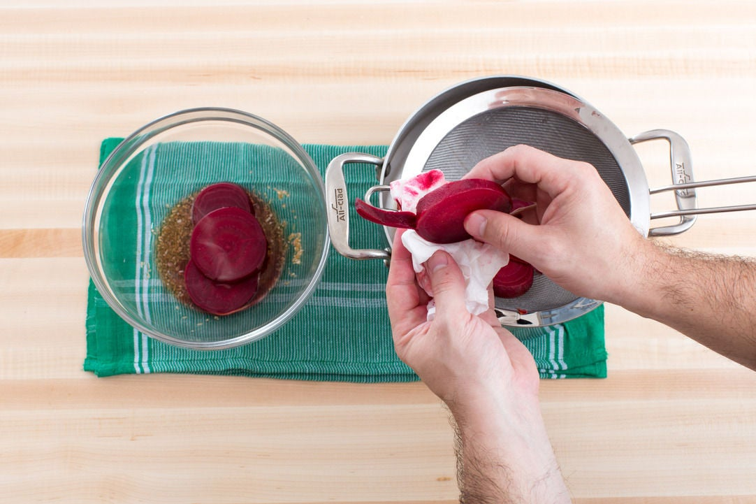 Cook & marinate the beets: