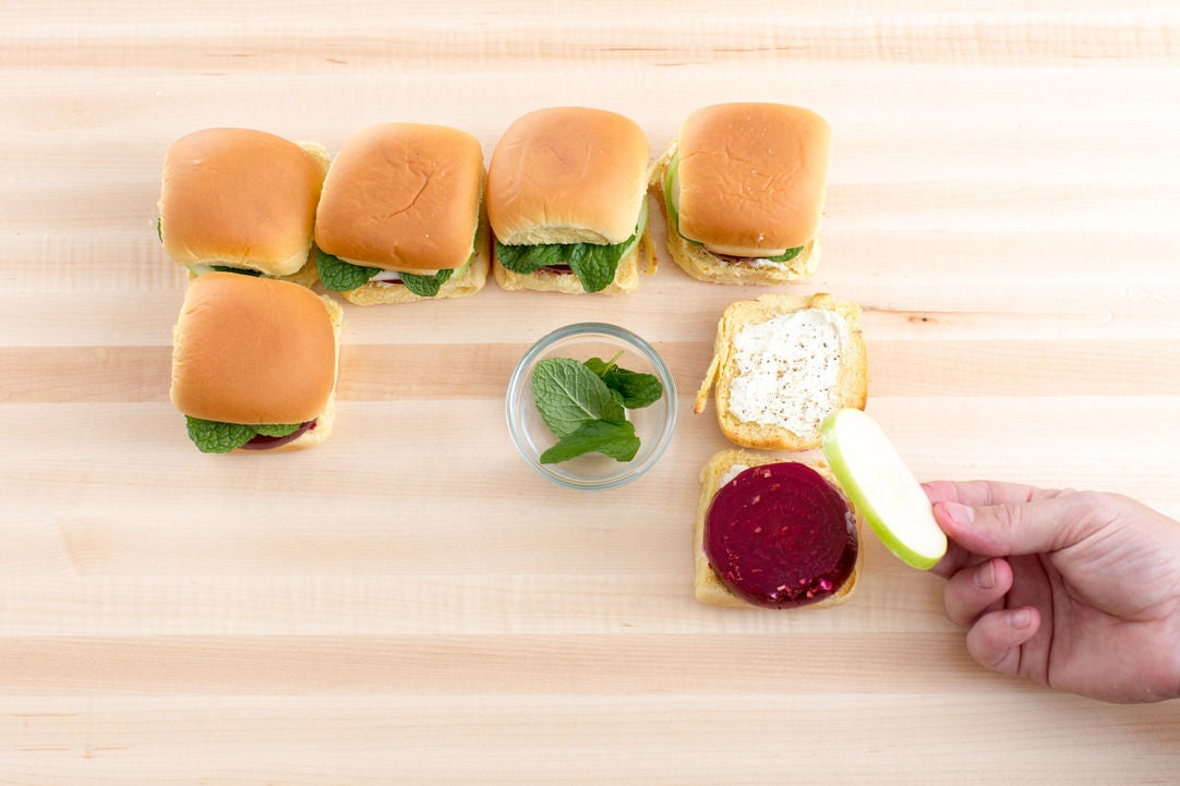 Assemble the sliders & plate your dish: