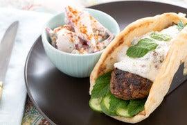 Lamb & Beef Shawarma with Creamy Radish Salad