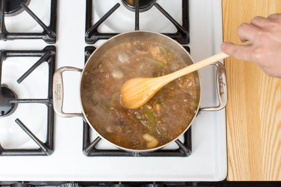 Make the broth & add the chicken:
