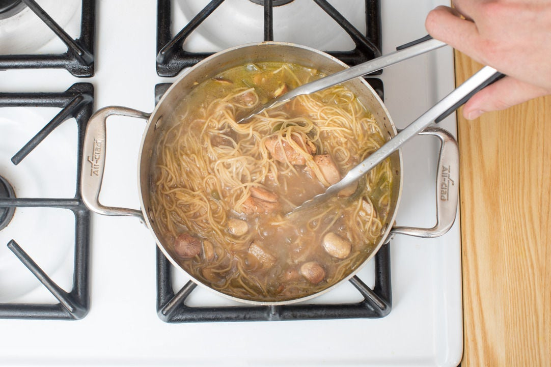 Add the noodles:
