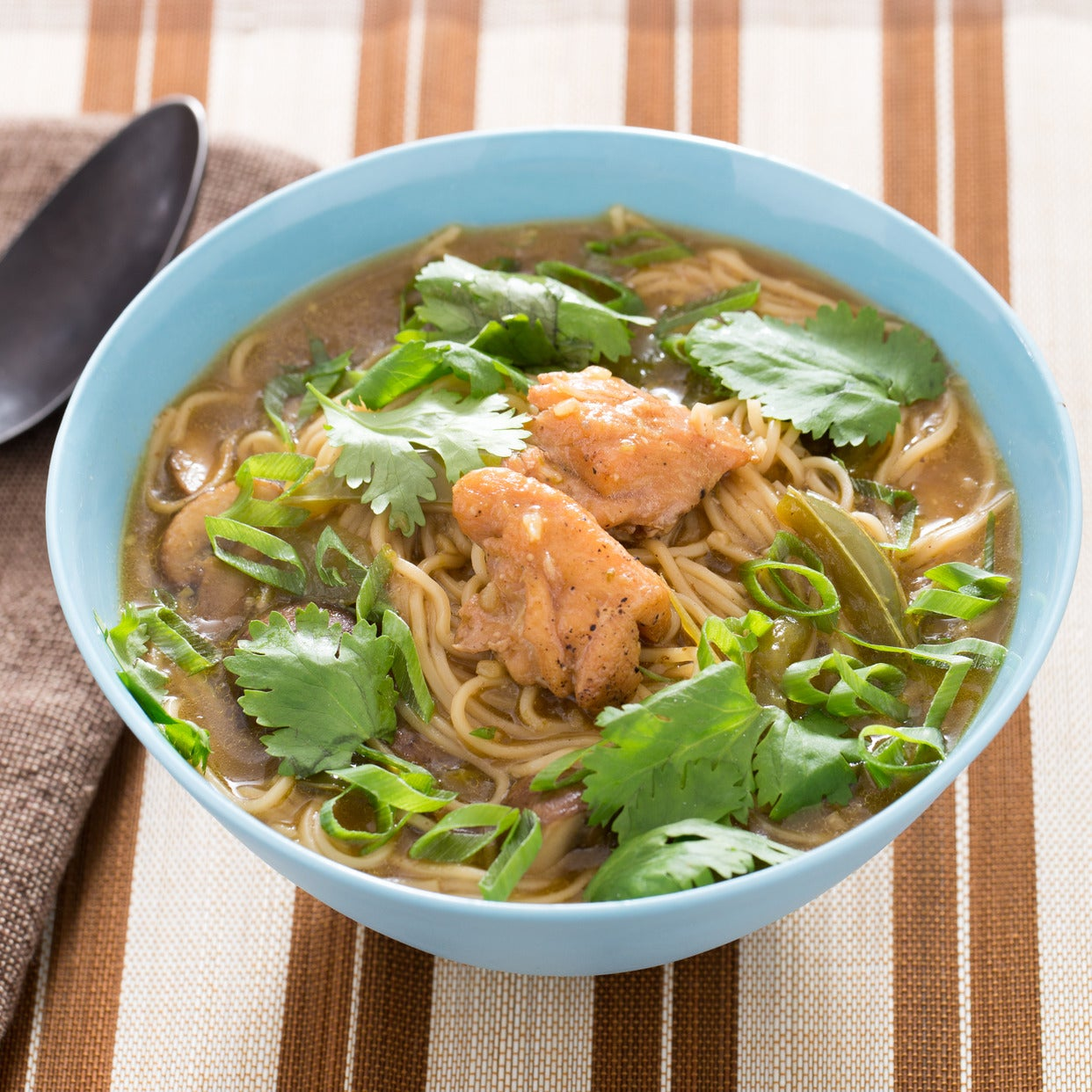 Recipe: Spicy Thai Chicken Noodle Soup With Curry