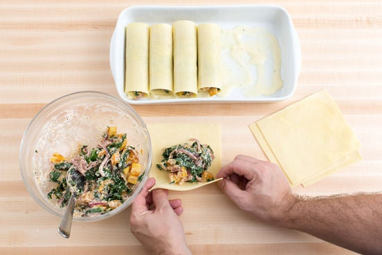 Assemble the cannelloni: