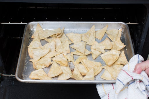 Make the tortilla chips: