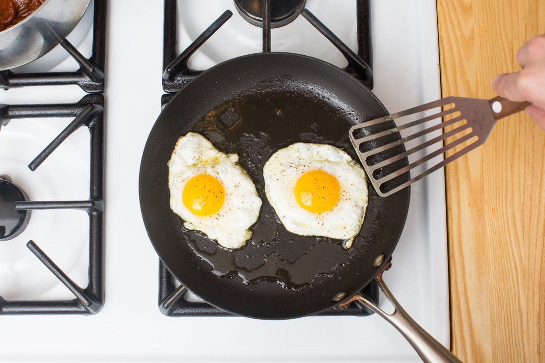 Cook the eggs & plate your dish: