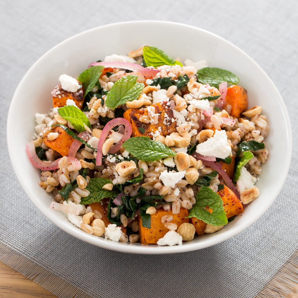Apple, Farro and Bacon Salad with Warm Feta Cheese Apple, Farro and Bacon Salad with Warm Feta Cheese new picture