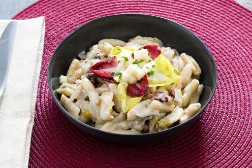Fresh Cavatelli Pasta with Endive, Pear & Gorgonzola Cheese