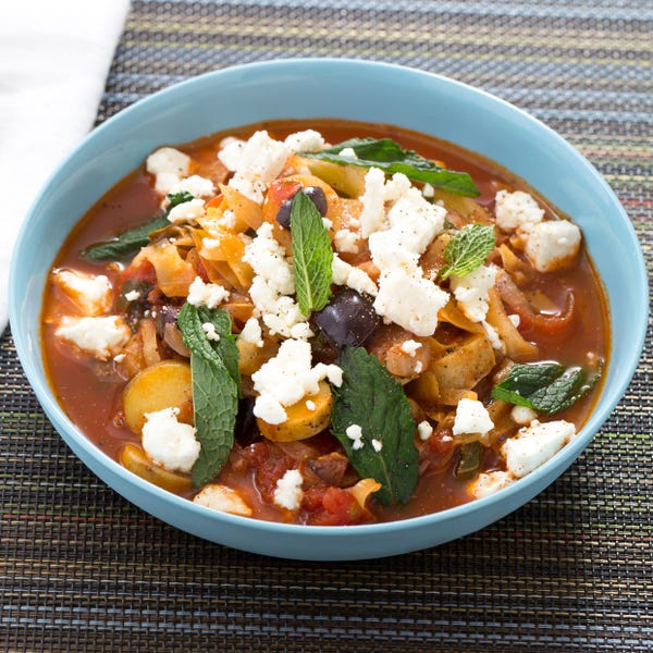 Greek Sweet & Sour Stew with Rainbow Chard & Fingerling Potatoes