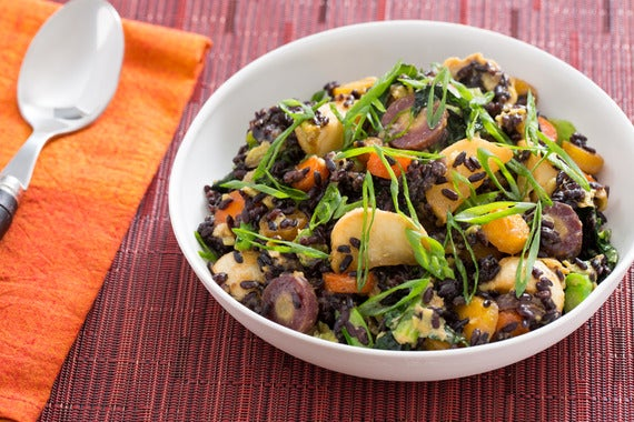 ... rice black bean stir fry stir fried forbidden black rice with tempeh