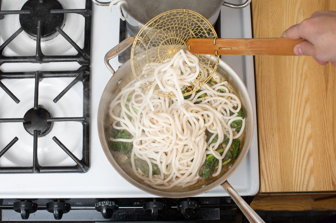 Cook & add the noodles: