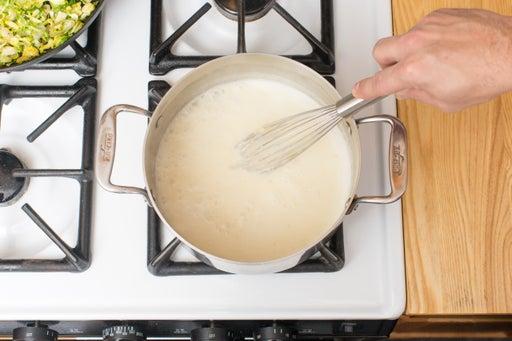Make the Fontina béchamel sauce: