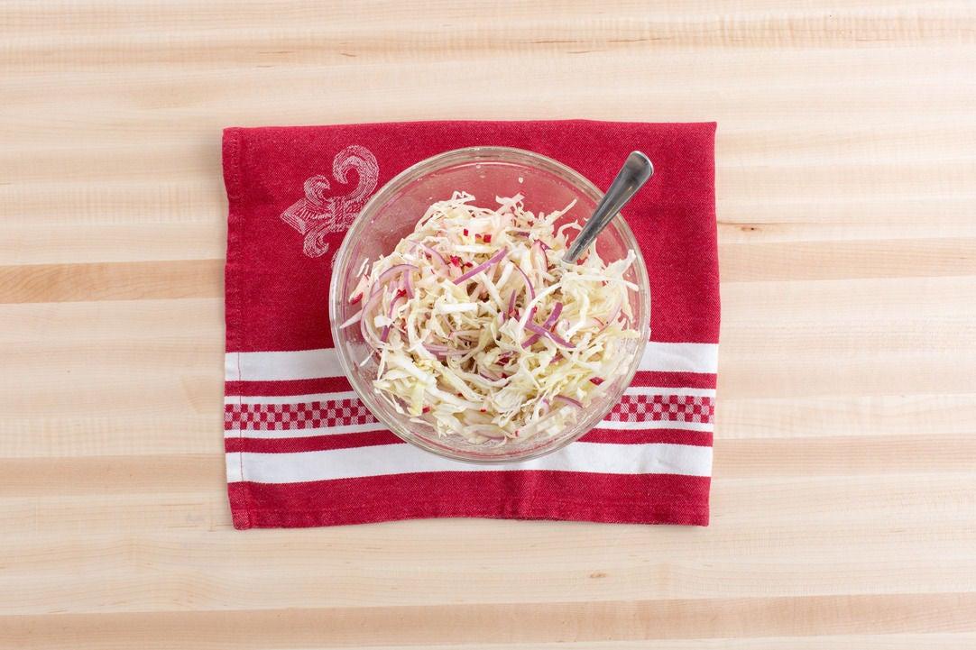 Make the radish curtido: