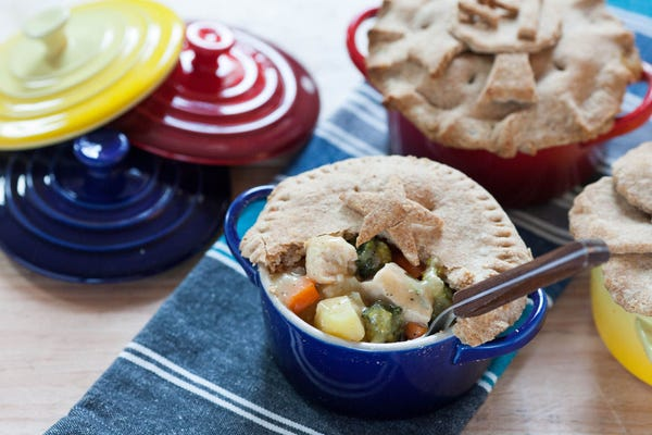 Chicken Pot Pie with Whole Wheat Crust