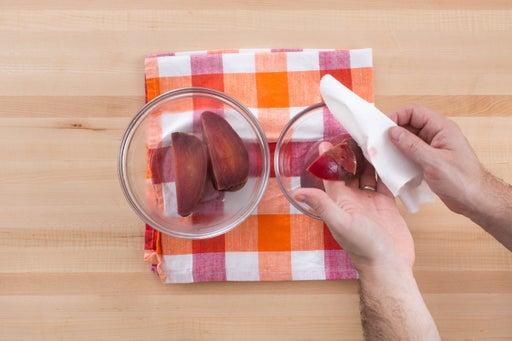 Cook & peel the beet:
