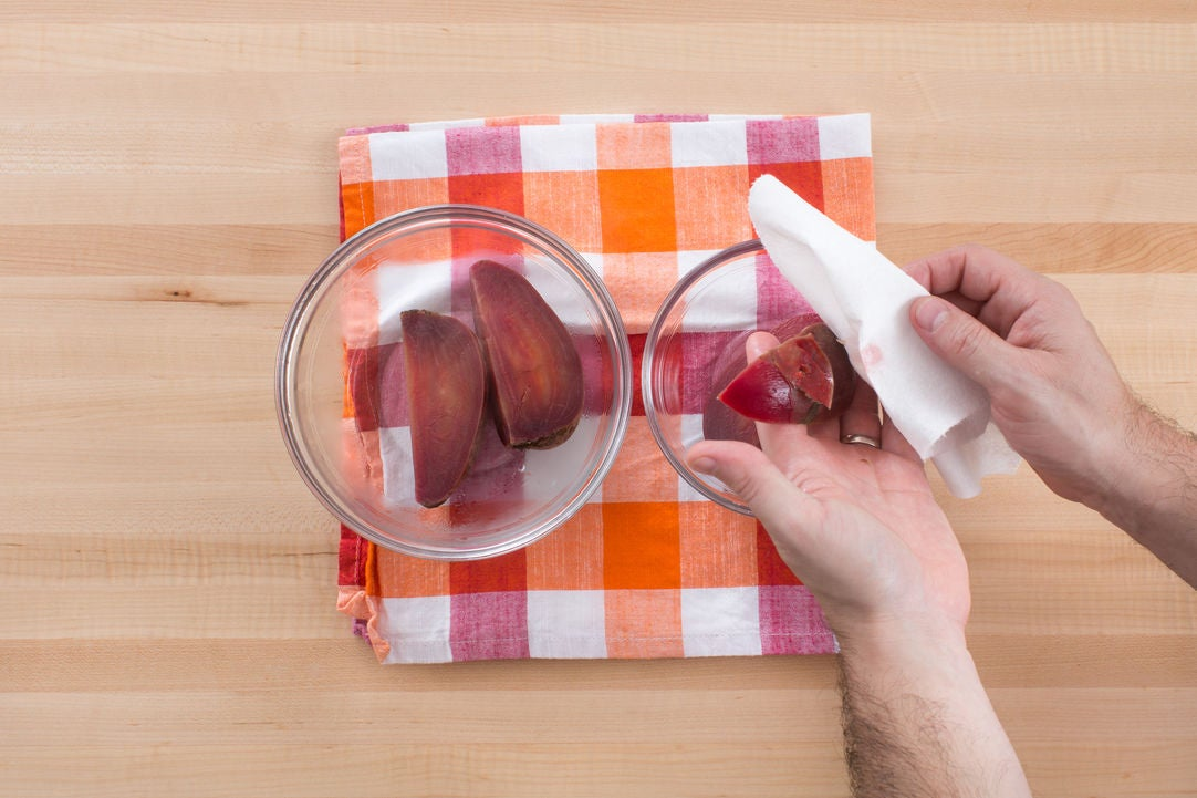 Cook & peel the beet: