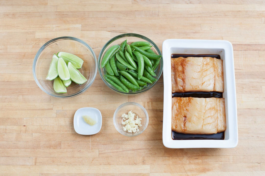Marinate the cod & prepare your ingredients: