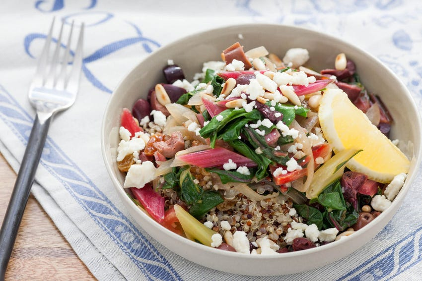 Ligurian Chard with Pine Nuts & Feta