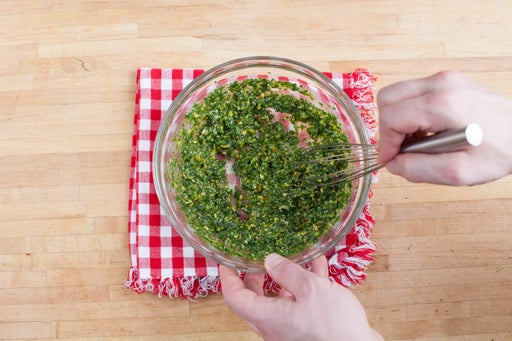 Make the pesto sauce:
