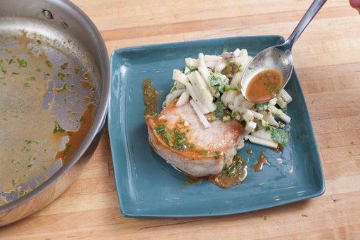 Make the pan sauce & plate your dish: