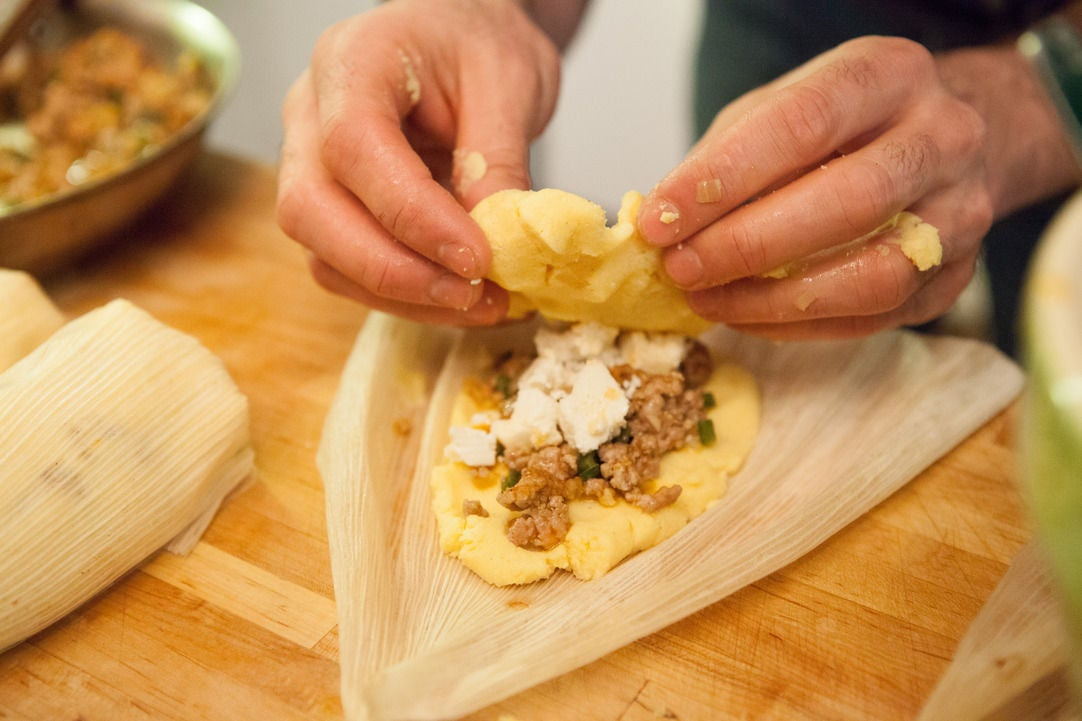 Stuff the tamales: