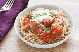 Whole Wheat Spaghetti and Meatballs