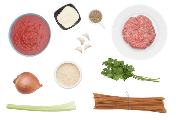 Whole Wheat Spaghetti and Meatballs  ingredients