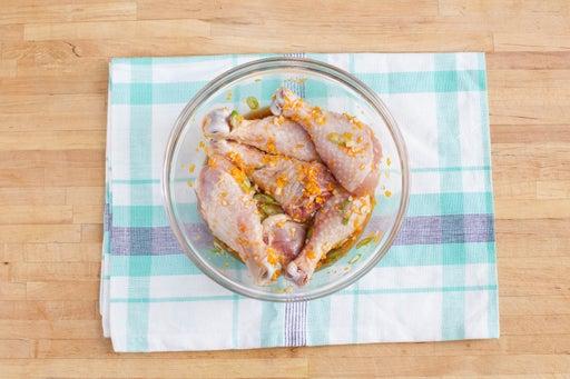 Marinate the chicken: