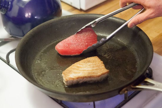 Sear your fish: