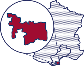 Ba ava map cotedu roussillon  france red