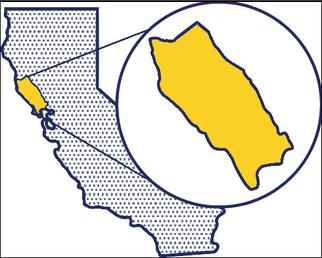 North coast region map