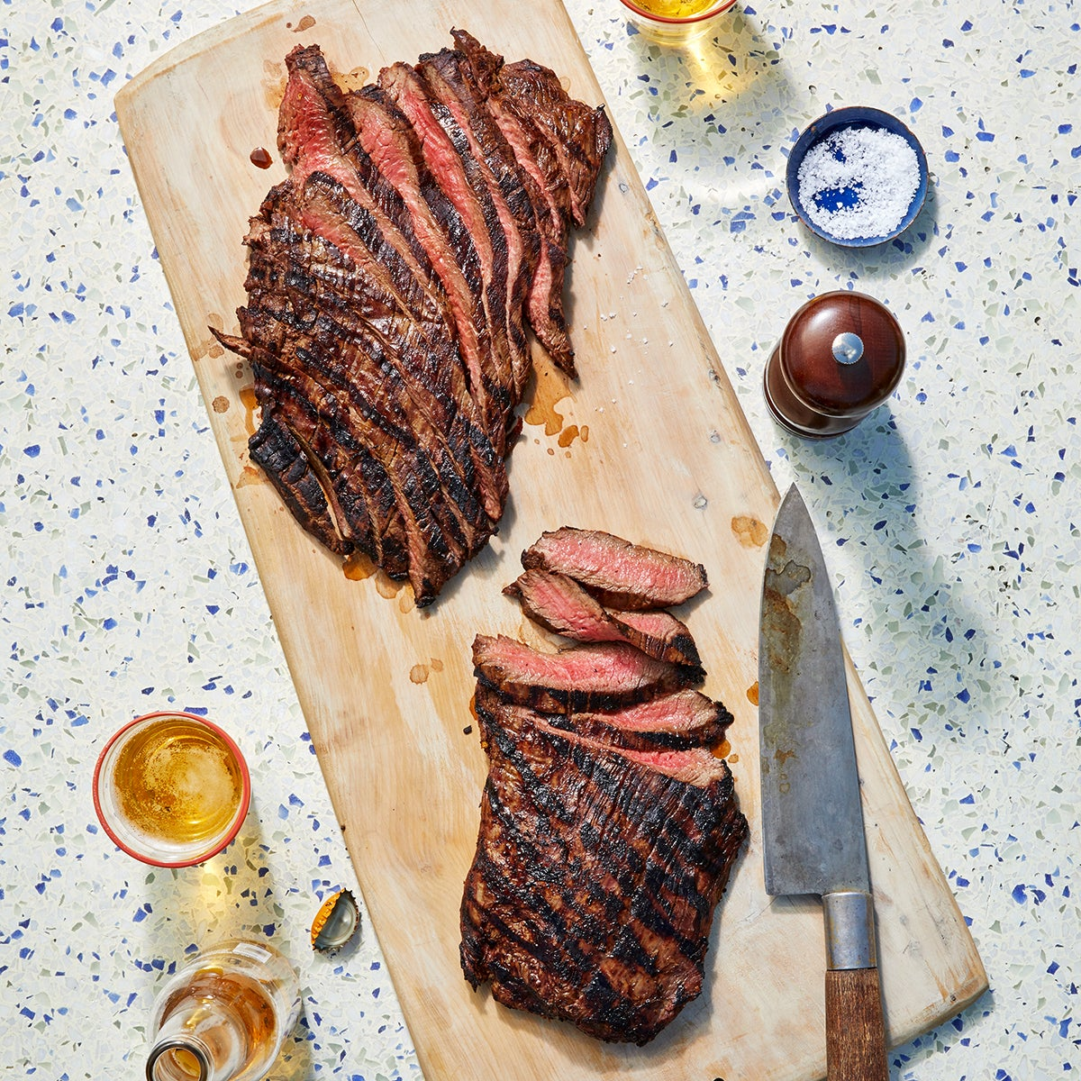 Soy marinated grilled steak