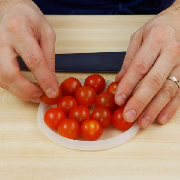 Cherry tomatoes square