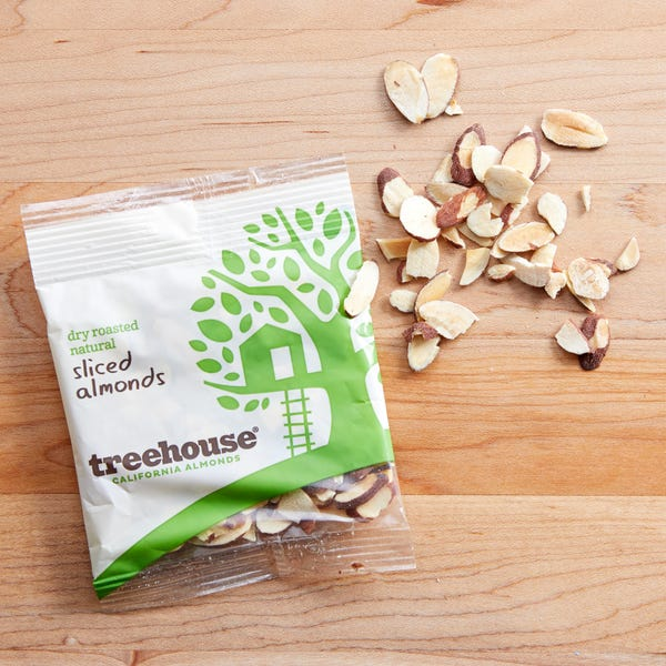 Treehouse sliced almonds ing 28569