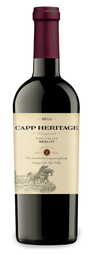Capp Heritage Vineyards bottle
